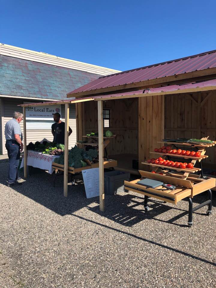 John and I at farm stand